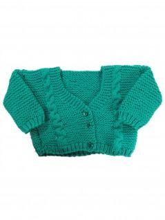 Casaquinho de Lã Verde Primavera - Albarella Infantil