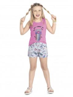 Conjunto Infantil Menina Chocolat Rosa - Rovitex