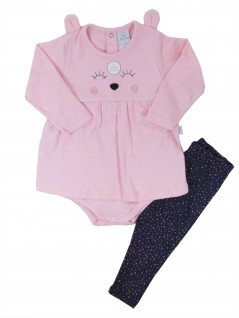 Conjunto Bebê Menina com Body e Calça Coelha Poá - Piu Piu