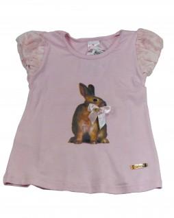Camiseta Infantil Coelho com Laço - Caracoles