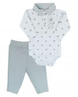 Conjunto para Bebê com Body Polo Foquinha - PiuPiu