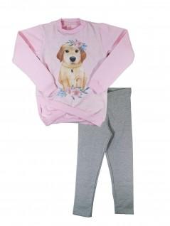 Conjunto Infantil Cachorro com Colar - Dente D'Leão