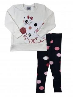 Conjunto Infantil Feminino Legging Bolas Coloridas - Rovitex