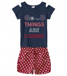 Conjunto Infantil Menina Good Things - Rovitex