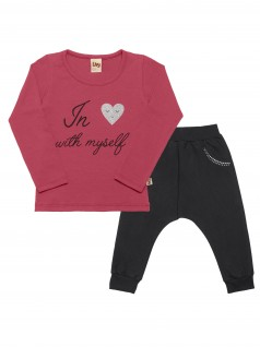 Conjunto Bebê Feminino In With Myself - Livy
