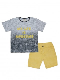 Conjunto Infantil My Life is Awesome - Have Fun