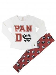 Conjunto Infantil Menina Panda - Dente D' Leão
