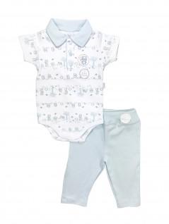 Conjunto Bebê de Body Gola Polo e Calça Raposa - Piu Piu