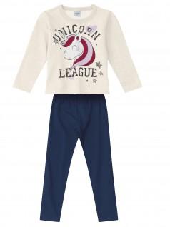 Conjunto Infantil Feminino Unicorn League - Rovitex