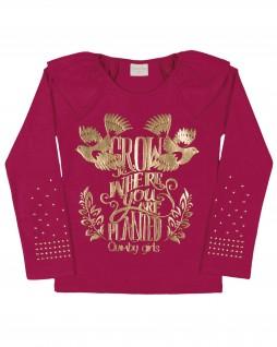 Blusa Infantil Grow com Estampa Dourada - Quimby