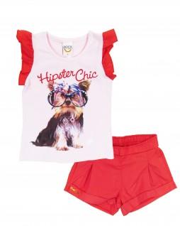 Conjunto Infantil Feminino Hipster Chic - Boca Grande