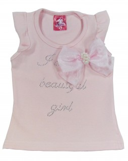 Blusa Infantil I Am a Beautiful Girl - Ikatex