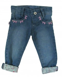 Calça Jeans para Bebê Laís - Akiyoshi