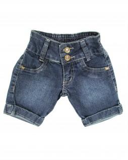 Bermuda Infantil Jeans com Laços Dourados - Akiyoshi