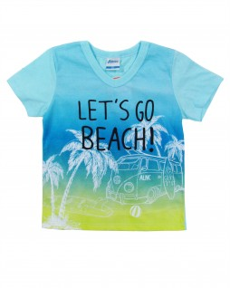 Camiseta Infantil Let's Go Beach - Alenice