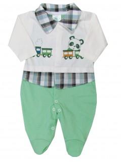 Macacão para Bebê Menino Estilo Camisa - Charanguinha
