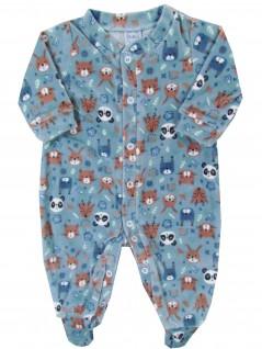 Macacão Comprido Bebê Bichinhos Floresta  - Piu Blu