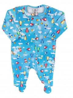 Macacão para Bebê em  Algodão Egípcio Foguetes - Piu Blu