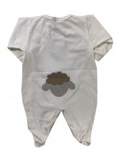 Macacão Longo Bebê Carneirinho Paz - Hira-Imi
