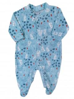 Macacão Comprido Bebê Coelhinhos Azuis - Piu Blu