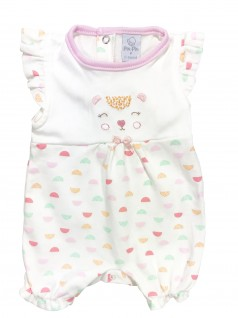 Macacão Curto para Bebê Ursinha Abstrata - Piu Piu