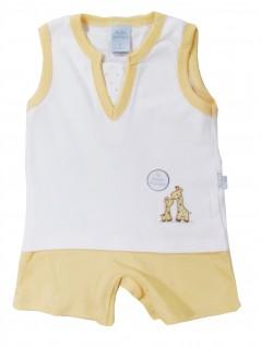 Macacão Curto Bebê Girafas - Piu Piu