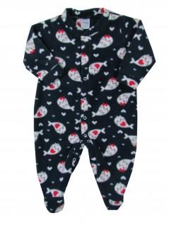 Macacão Comprido Bebê Soft Peixinhas - Piu Blu