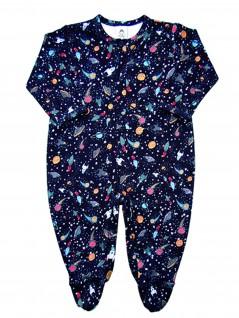 Macacão Bebê Masculino  Estampado Espacial  - Piu Blu