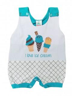 Macacão Curto Menino I Love Ice Cream - Charanguinha