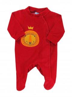 Macacão Longo Bebê Leão com Coroa  - Tip Top