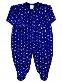 Macacão Comprido Bebê Florzinhas - Piu Blu