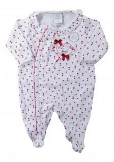 Macacão Longo para Bebê Corações  - Piu Piu