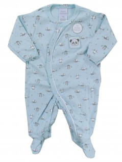 Macacão para Bebê Pandinha  Azul - Piu Piu
