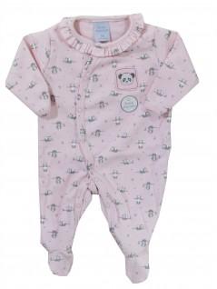 Macacão Longo para Bebê Pandinha Rosa - Piu Piu