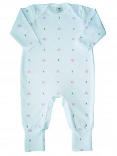 Macacão Bebê Feminino Estampado Raposa Rosa  - Piu Blu