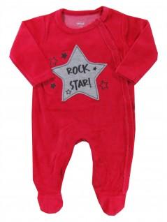Macacão para Bebê em Plush Rock Star - TipTop