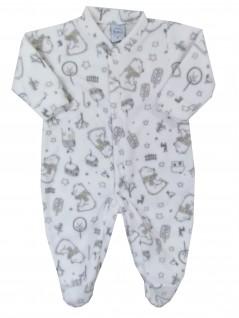 Macacão Comprido Bebê Soft Urso Cachecol - Piu Blu