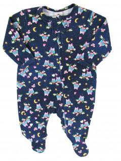 Macacão para Bebê em  Algodão Egípcio Corujinhas - Piu Blu