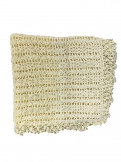 Manta de Lã Feita à Mão Amarela - Albarella