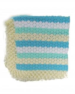 Manta de Lã Feita à Mão Listrada - Albarella