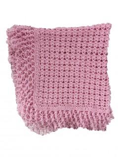 Manta de Lã Feita à Mão Rosa - Albarella