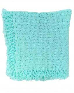 Manta de Lã para Bebê Verde Água - Albarella