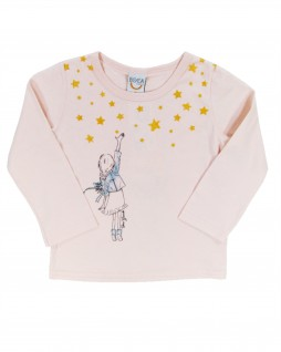 Blusa  Infantil Menina com Estrelas - Up Baby