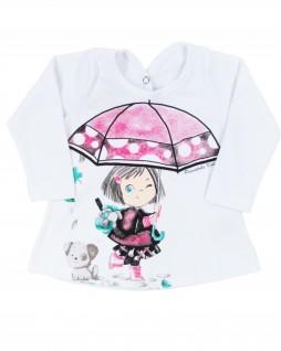 Blusa Infantil Menina Guarda-Chuva - Pimentinha