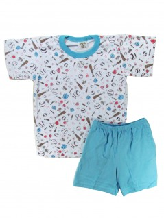 Pijama Curto Infantil Menino Baseball - Charmy Eye