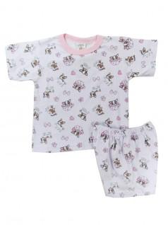 Pijama Curto Infantil Menina Cachorrinhos - Charmy Eye