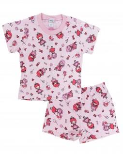 Pijama Infantil Curto Estampado para Menina - Tampinha