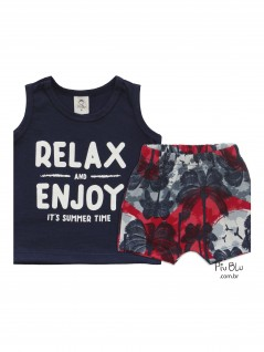 Conjunto Bebê Relax and Enjoy - Piu Blu