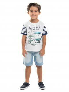 Camiseta Infantil Whale - Minore