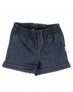 Shorts Infantil em Malha Imitando Jeans - Piu Piu